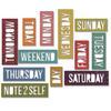 Block Daily Words - Sizzix Thinlits Dies 12/Pkg By Tim Holtz