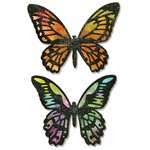 Detailed Butterflies - Sizzix Thinlits Dies 4/Pkg By Tim Holtz