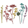 Wildflowers - Sizzix Thinlits Dies 7/Pkg By Tim Holtz