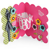 Thank You Sentiments Drop-Ins Card - Sizzix Thinlits Dies 9/Pkg By Stephanie Barnard
