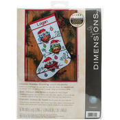"16"" Long 14 Count - Holiday Hooties Stocking Counted Cross Stitch Kit"