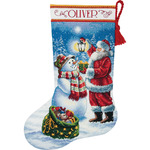"16"" Long 18 Count - Gold Collection Holiday Glow Stocking Counted Cross Stitch K"