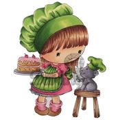 """Sweet Like Cake - Candibean Cling Stamp 4""""X7"""""""