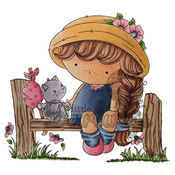 """Shall We Have Lunch - Candibean Cling Stamp 4""""X7"""""""