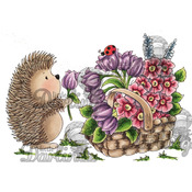 """Handpicked For Hedgy - Candibean Cling Stamp 4""""X7"""""""