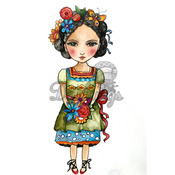 """All Dolled Up - Dollhouse Cling Stamp 4""""X7"""""""