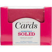 "Everyday Solid - American Crafts A2 Cards & Envelopes (4.375""X5.75"") 40/Box"