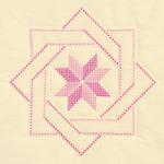 """XX Woven Star - Stamped Ecru Quilt Blocks 18""""X18"""" 6/Pkg"""