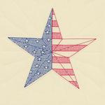"American Star - Stamped Ecru Quilt Blocks 18""X18"" 6/Pkg"