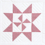 "XX Star Pinwheel - Stamped White Quilt Blocks 18""X18"" 6/Pkg"