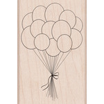 Birthday Balloons Mounted Rubber Stamp - Hero Arts