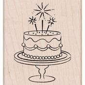 Fancy Birthday Cake Mounted Rubber Stamp - Hero Arts