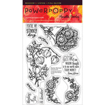 "Sunny Harvest - Power Poppy Clear Stamps 4""X6"""