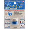 Thread Magic Round Taylor Seville-Thread Magic Round. This tool is designed to make thread more manageable. It reduces friction when sewing, protects against UV rays, mold and mildew and helps reduce tangling and knotting. Can be used for hand or machine sewing. This 4-3/4x3- 1/2x1 inch package contains one thread conditioner. Non-toxic. Acid free. Made in USA.