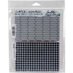 """Tailor & Houndstooth - Tim Holtz Cling Stamps 7""""X8.5"""""""
