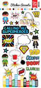 Superhero Sticker Sheet - Echo Park