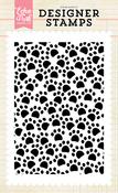 Pawprints Background Stamp - Echo Park