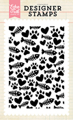 The Cats Meow Background Stamp - Echo Park