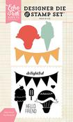 Hello Friend Stamp & Die Set - Echo Park