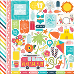 Summer Party Element Stickers - Echo Park