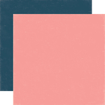 Light Pink - Dark Blue Paper - Summer Party - Echo Park