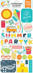 Summer Party Chipboard Stickers - Summer Party