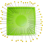 Lime - Zirkel Magnetic Organizer