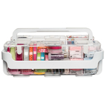 White - Caddy Organizer W/Small, Medium & Large Compartments