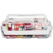White - Caddy Organizer W/Small, Medium & Large Compartments