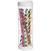 White/Clear - 3 Compartment Stacking Storage Organizer W/6 Lids
