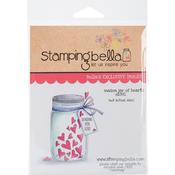 "Mason Jar Of Hearts - Stamping Bella Cling Stamp 6.5""X4.5"""
