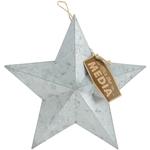 "9.25"", Jute Hanger - Mix The Media Galvanized Star Small"
