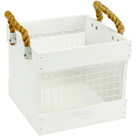 Mix The Media Wood Chickenwire Crate With Handles