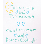 "Kiss Me Goodnight - Stamped White Sampler 11""X14"""