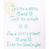 "Kiss Me Goodnight - Stamped White Sampler 11""X14"""