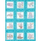 """Kittens - Themed Stamped White Quilt Blocks 9""""X9"""" 12/Pkg"""