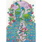 "8""X12"" 14 Count - Peacocks Counted Cross Stitch Kit"