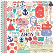 Nautical Bliss Element Stickers - Photoplay