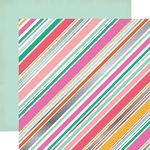 Diagonal Stripe Foil Paper - Party Time - Echo Park
