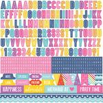 Let's Be Mermaids Alpha Sticker Sheet - Echo Park