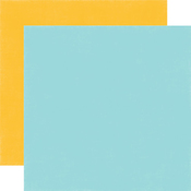 Blue - Yellow Coordinating Solid Paper - Magical Adventure - Echo Park