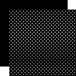 Black Silver Foil Dot Paper - Magical Adventure - Echo Park
