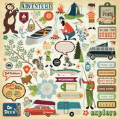 The Great Outdoors Sticker Sheet - Carta Bella