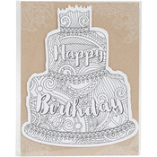 Birthday Cake - Diecut Coloring Cards