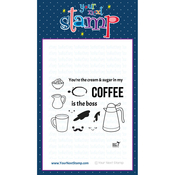 "Coffee Is Boss - Your Next Stamp Clear Stamps 3""X4"""
