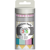 Black & White - Create 365 Washi Tape 7/Pkg