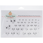 Everyday Snow Character - Peachy Keen Stamps Clear Face Assortment 32/Pkg