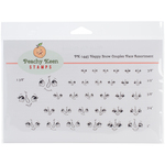 Snow Couples - Peachy Keen Stamps Clear Face Assortment 32/Pkg