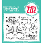 "Be A Unicorn - Avery Elle Clear Stamp Set 4""X3"""