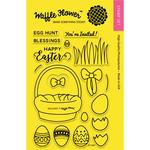 "Egg Hunt - Waffle Flower Crafts Clear Stamps 4""X6"""